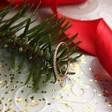 Кольцо в красном золоте Аюна с фианитами
