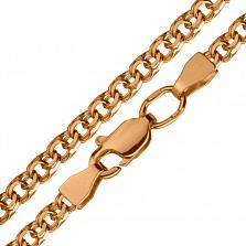 Серебряная плоская цепочка Эльдия в позолоте, 4мм