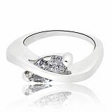 Серебряное кольцо Элисса с фианитами