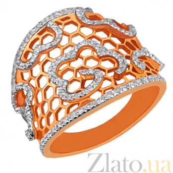 Кольцо из красного золота с фианитами Мерцана VLT--TT1041-2