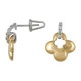 Серьги из золота Удача с бриллиантами