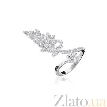 Серебряное кольцо с фианитами Снежана 000028120