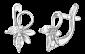 Серебряные серьги с цирконием Альберта SLX--С2Ф/006