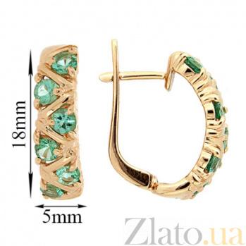 Золотые серьги Иоланта с изумрудами ZMX--EE-16531_K