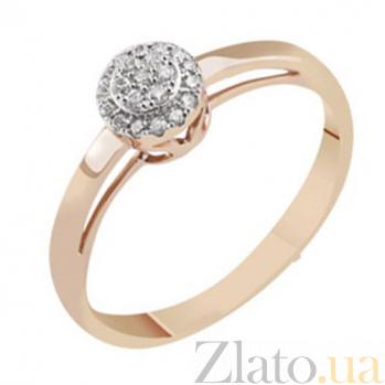Золотое кольцо с бриллиантами Джеральдина KBL--К1007/крас/брил