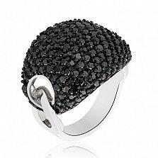 Кольцо серебряное Бирма с кристаллами Сваровски