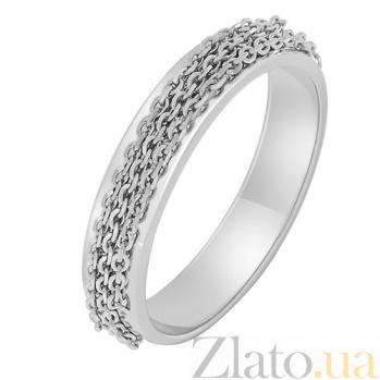 Золотое кольцо в белом цвете Динамика 000032635