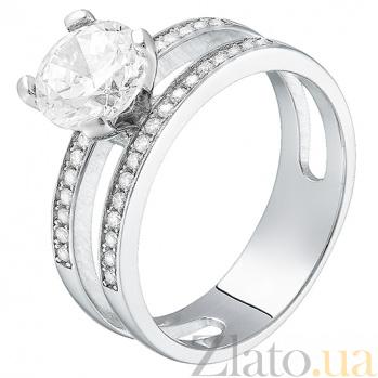 Серебряное кольцо с фианитами Глория 31145
