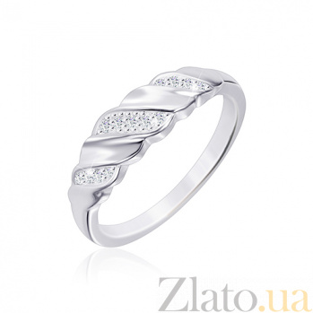 Кольцо из серебра Колос с фианитами 000030932