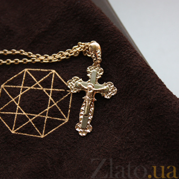 Золотой крест Господь Вседержитель 000032383