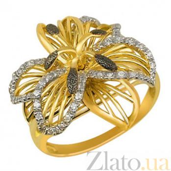 Кольцо из желтого золота с фианитами Амина VLT--ТТ1062-1