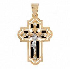 Золотой крест со вставками оникса Сила небес