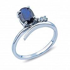 Кольцо из серебра с сапфиром Василина