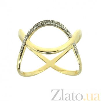 Золотое кольцо в жёлтом цвете с бриллиантами Злата 000021419