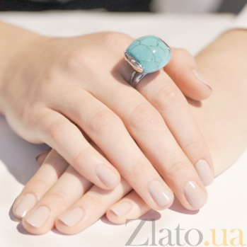 Серебряное кольцо с бирюзой Эфиопия AUR--71504 27/a