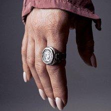 Кольцо из серебра Ave Caesar с чернением
