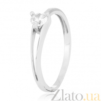 Серебряное кольцо с фианитом Лоренза 000028054