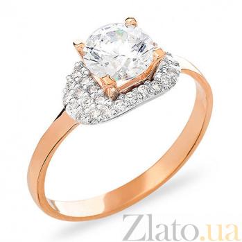 Золотое кольцо с фианитами Графиня SUF--153149