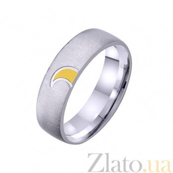 Золотое обручальное кольцо Вечный медовый месяц TRF--421241