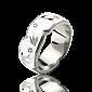 Эксклюзивное обручальное кольцо Полет Ласточек с белыми бриллиантами и эмалью 000029386
