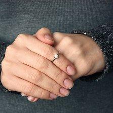 Кольцо Сердечко в белом золоте
