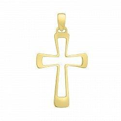 Крестик из желтого золота 000023248
