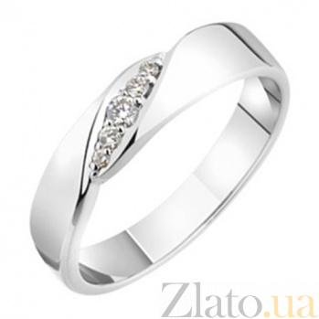 Золотое обручальное кольцо с бриллиантами София KBL--К1719/бел/брил
