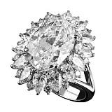 Золотое кольцо с бриллиантами Кристель