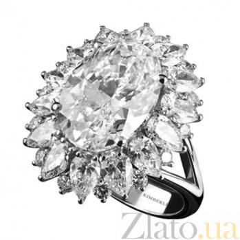 Золотое кольцо с бриллиантами Кристель KBL--К1894/бел/брил