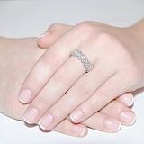 Кольцо из белого золота с бриллиантами Голливуд