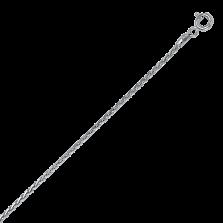 Серебряная родированная цепочка Косичка с родированием, 2мм