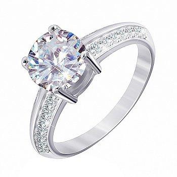 Серебряное кольцо с фианитами 000028074