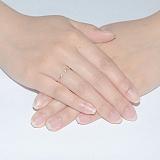 Золотое кольцо с открытой шинкой Аврора