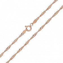 Серебряная цепь Фламенко с позолотой, 2,5 мм