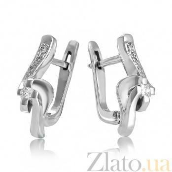 Золотые серьги с бриллиантами Аркадия EDM--С7479/1ПР