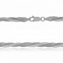 Серебряная цепочка Луанда с родием, 5 мм