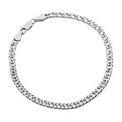 Серебряный браслет с родированием, 3,5 мм 000071968