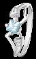 Серебряное кольцо с голубым цирконием Велия 000025670