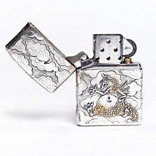 Серебряная зажигалка Дракончик