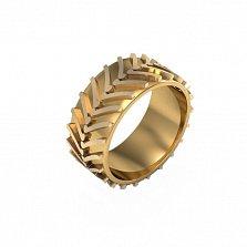 Кольцо из красного золота Тракторная шина