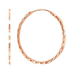 Серьги-конго из красного золота, 40мм 000003932