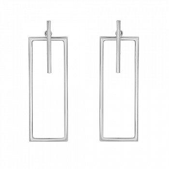 Серьги-джекеты из серебра 000114161