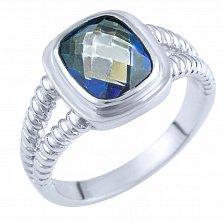 Кольцо из серебра Жанин с топазом мистик
