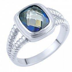Кольцо из серебра с топазом мистик 000057779