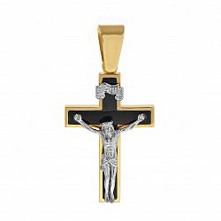 Золотой крест с агатом Божья благодать 000033658