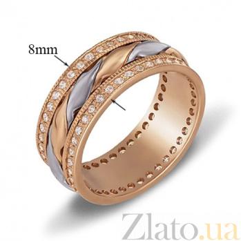 Обручальное кольцо из красного и белого золота Купидон 1079