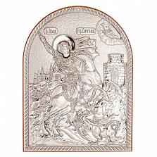 Икона Георгия Победоносца серебро