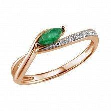 Кольцо из золота с изумрудом и бриллиантами Велма