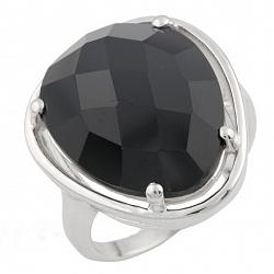 Серебряное кольцо Эльвира с черным ониксом