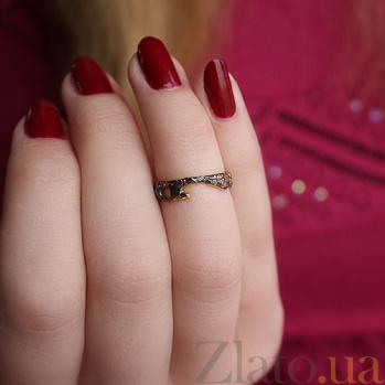 Серебряное кольцо с позолотой и чернением на фалангу Астарта АНТ 003а зч